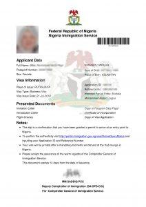 how long does nigerian visa take to get
